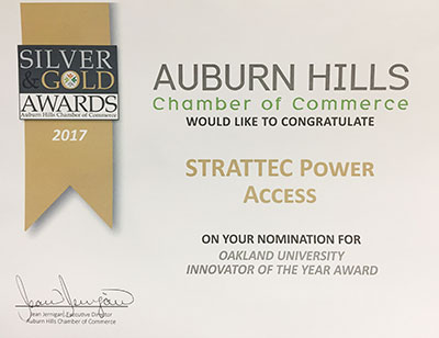 2018 Auburn Hills - Silver and Gold Award Finalist for Innovator of the Year