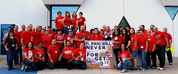 El Paso We will never forget 911 Employees with sign