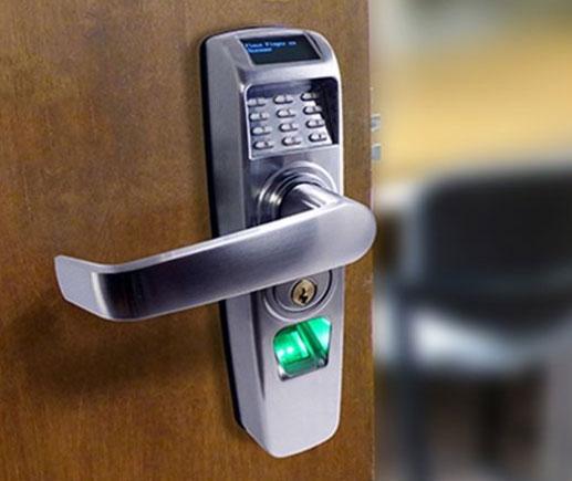 Door handle with security